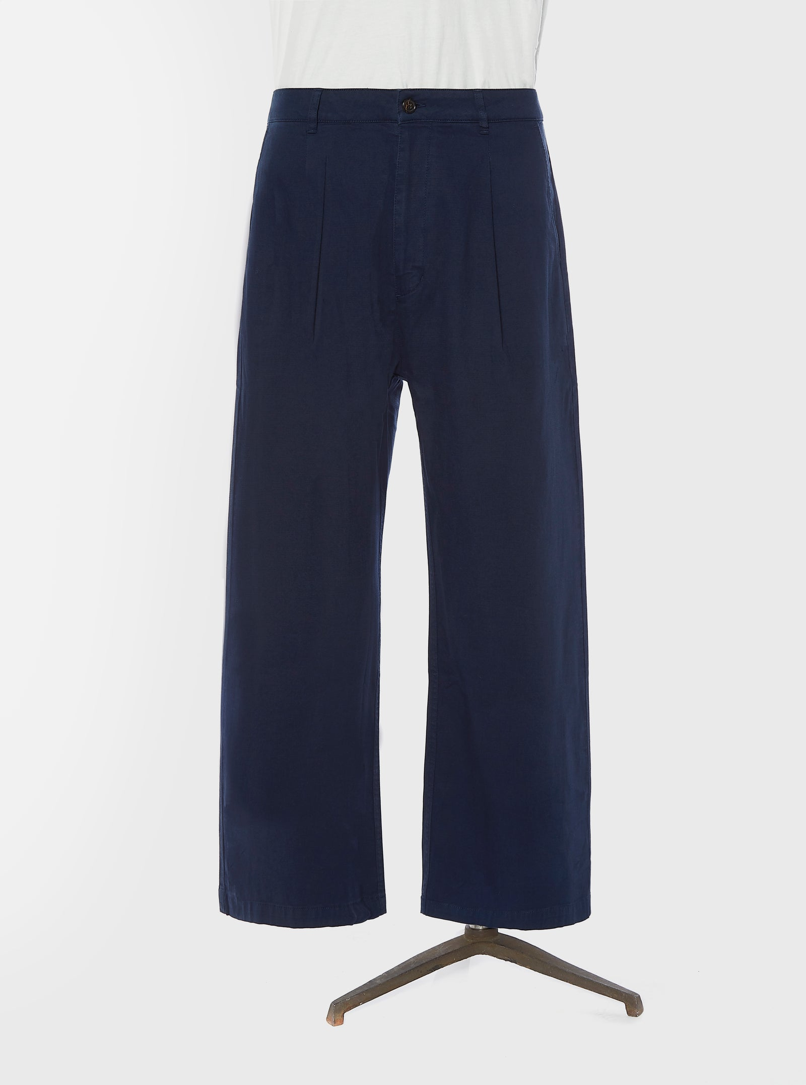 Universal Works Sailor Pant in Navy Fine Weave Cotton