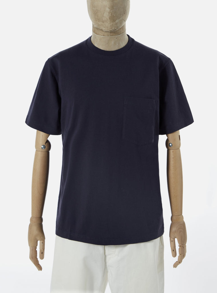 Universal Works Big Pocket Tee in Indigo Save That Jersey