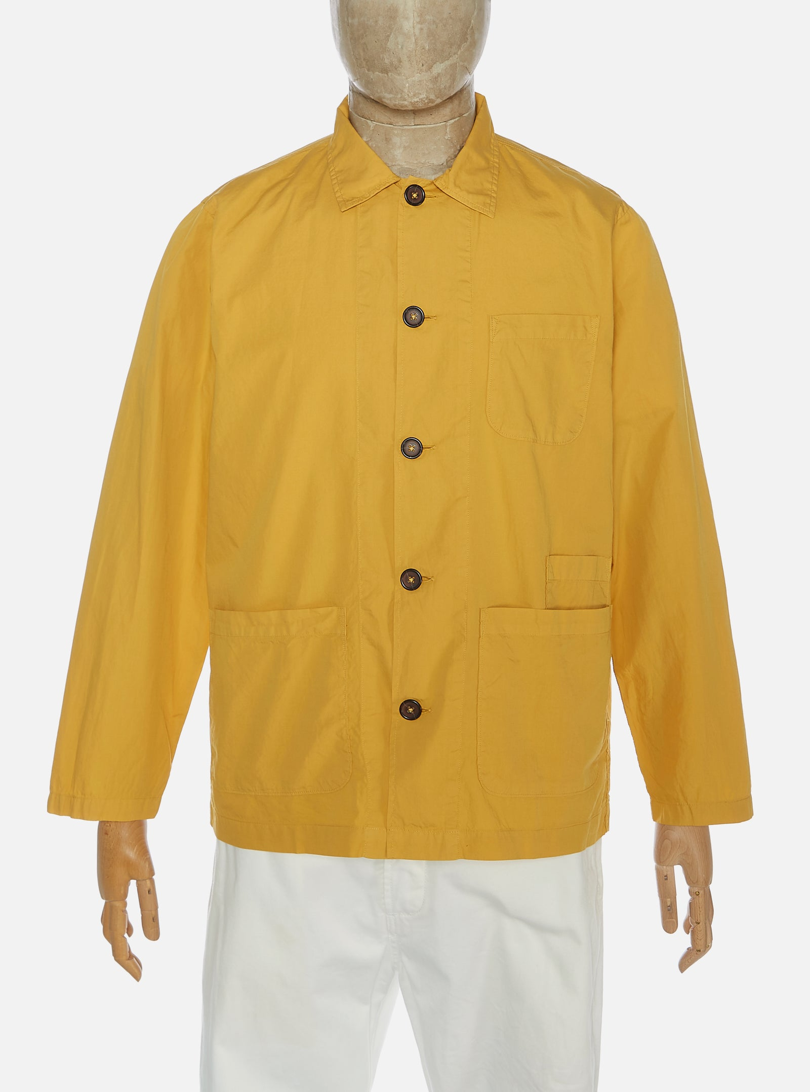 Universal Works Bakers Overshirt in Gold Poplin
