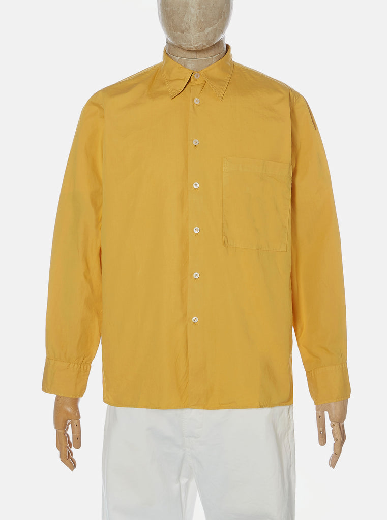 Universal Works Big Pocket Shirt in Gold Poplin