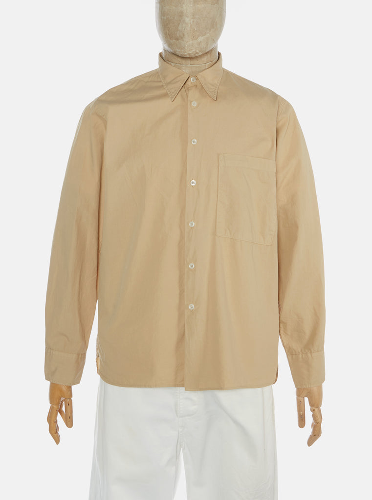 Universal Works Big Pocket Shirt in Sand Poplin