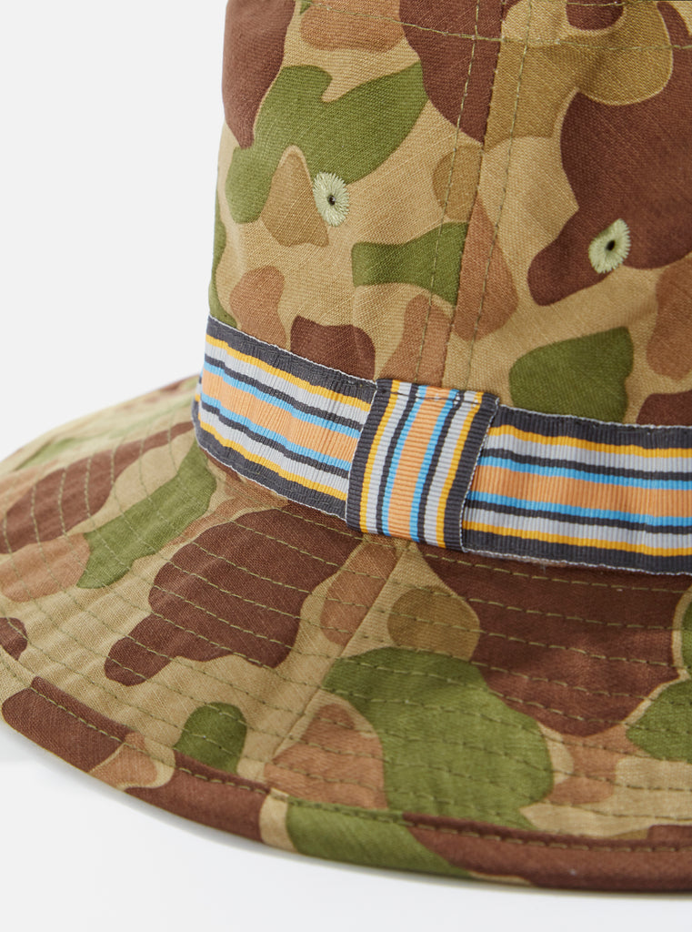 Universal Works Pork Pie Hat in Olive Peacekeeper Camo