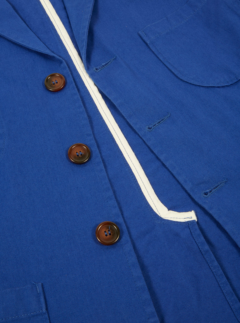 Universal Works Suit Jacket in Royal Blue Byron Twill
