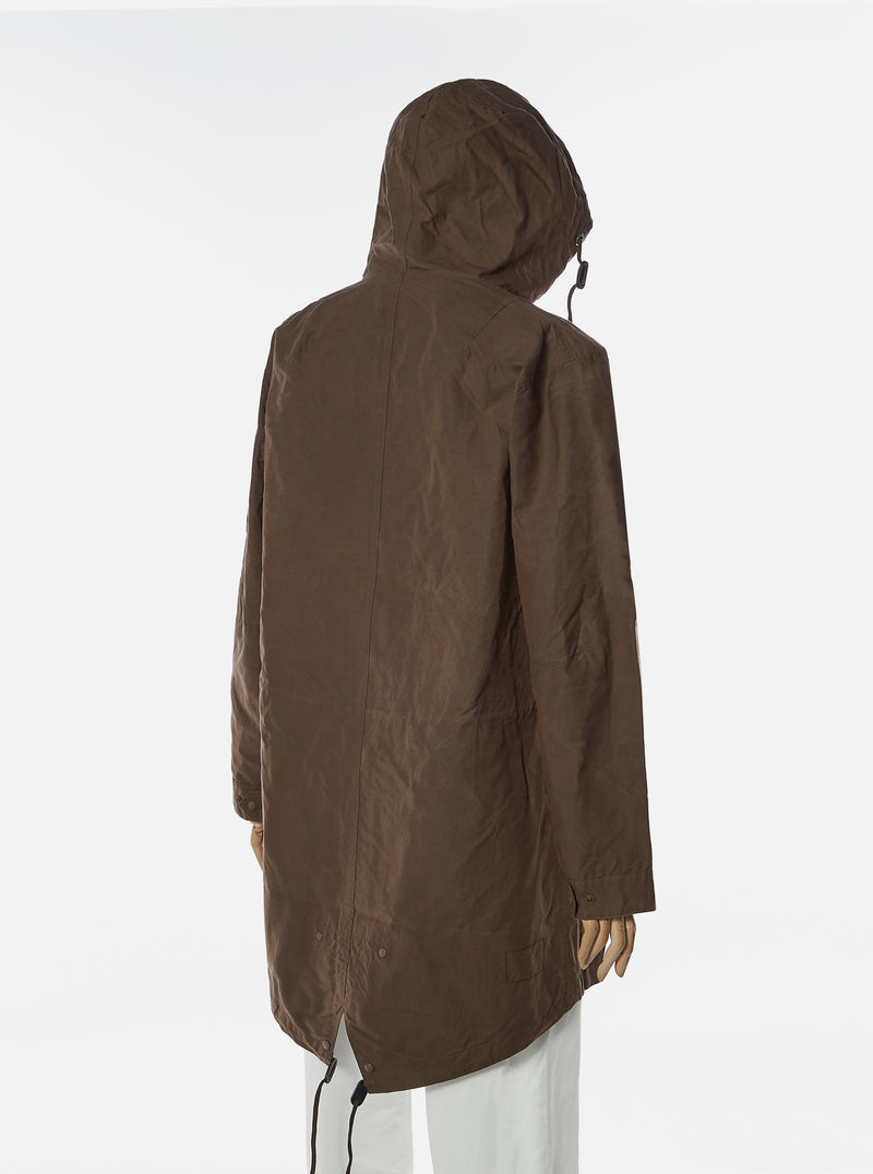 Universal Works Parka in Chocolate Scottish Wax Cotton
