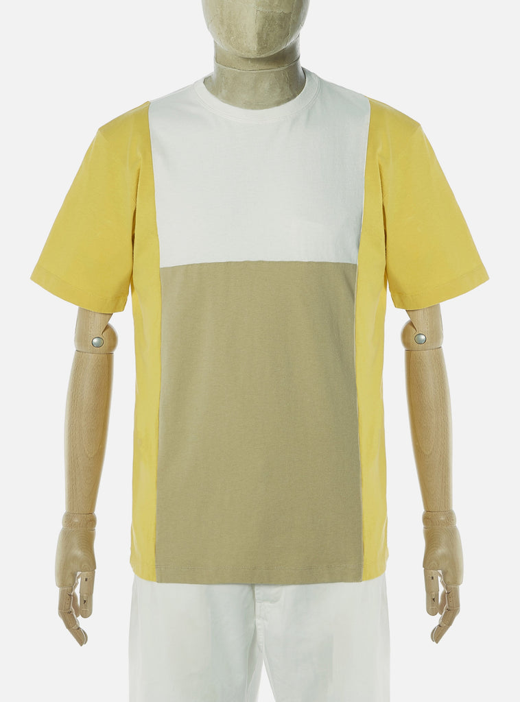 Universal Works 'Save That Jersey' Panel Tee in Mimosa Mixed