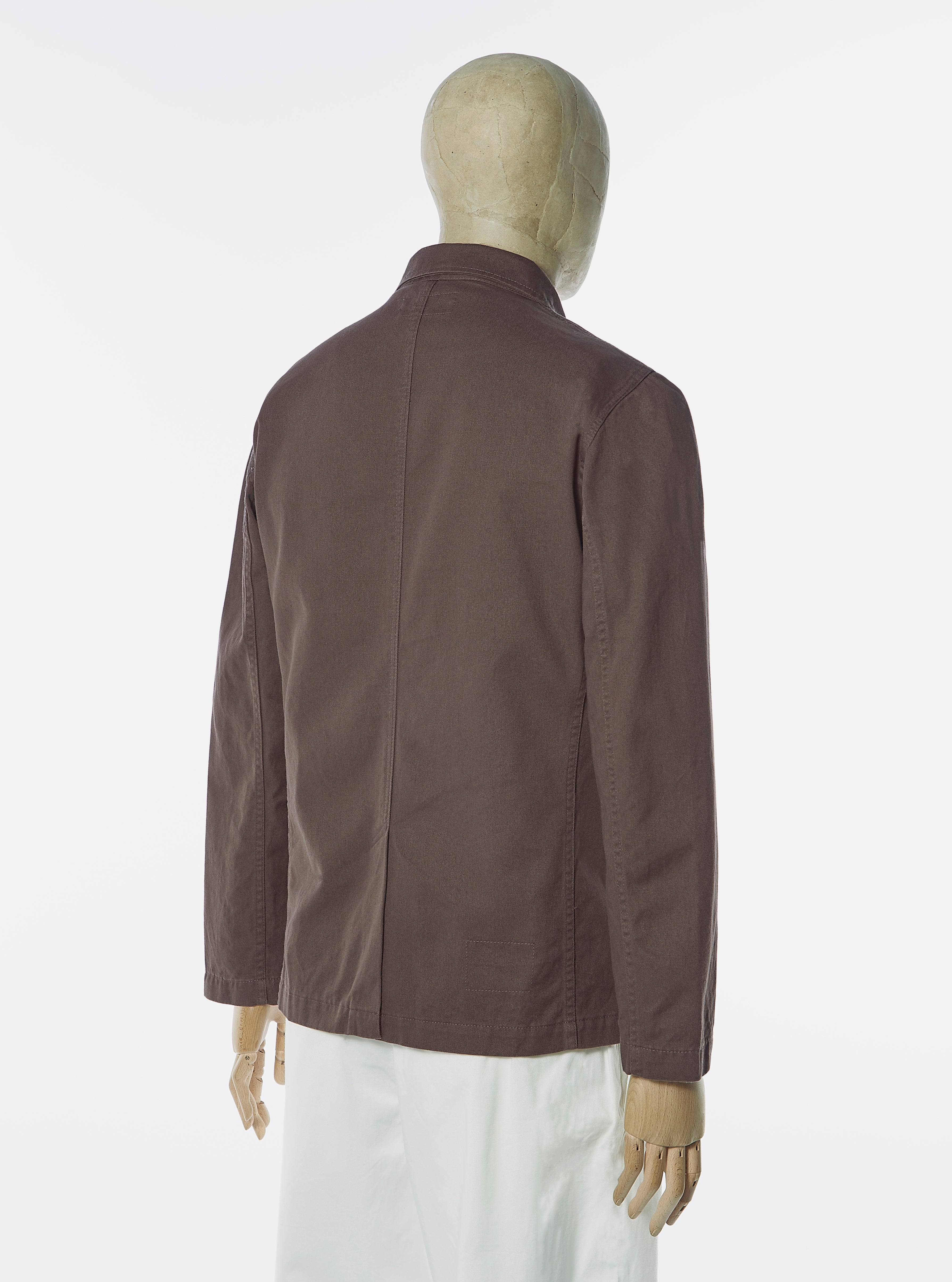 Universal Works Suit Jacket in Brown Byron Twill