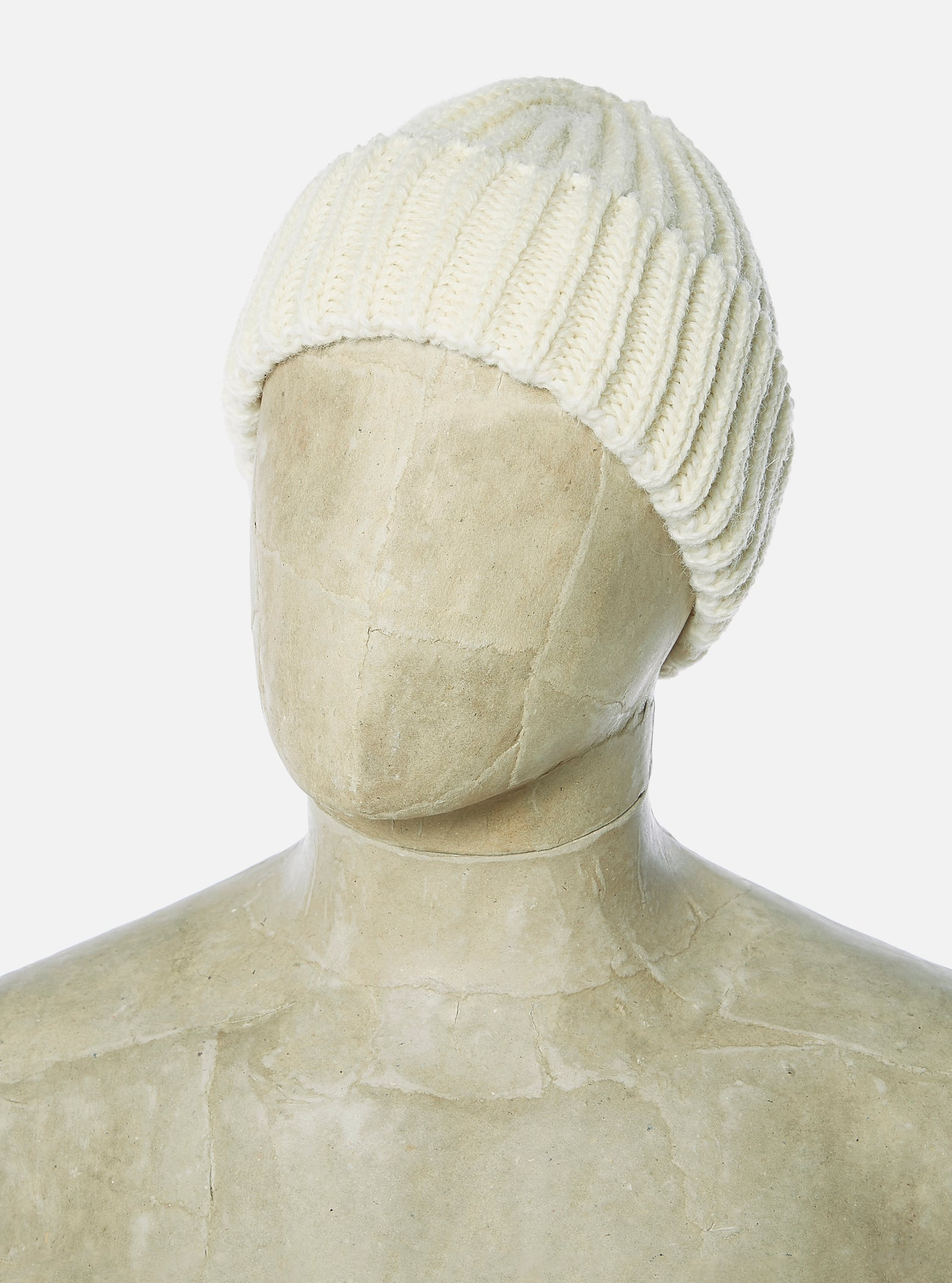 Universal Works Short Watch Cap in Aran British Wool/Alpaca
