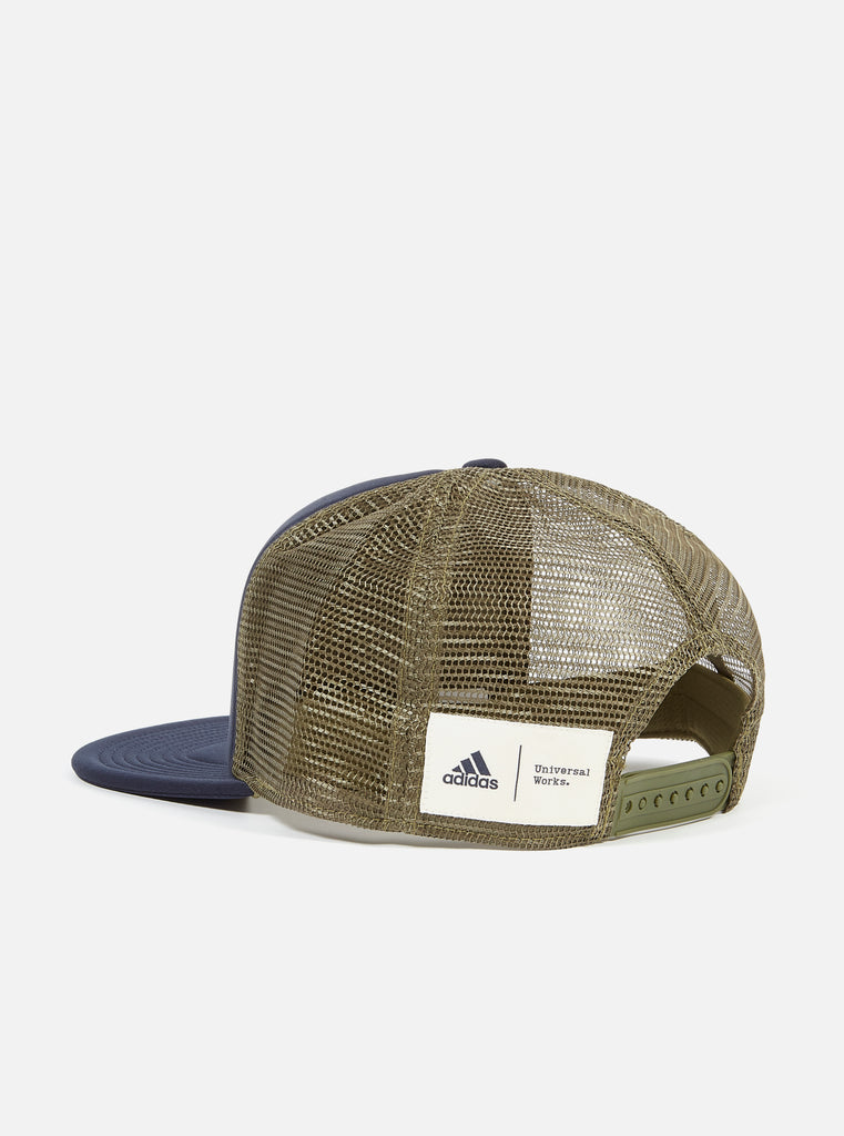 Adidas x Universal Works Trucker Cap in Navy/Olive
