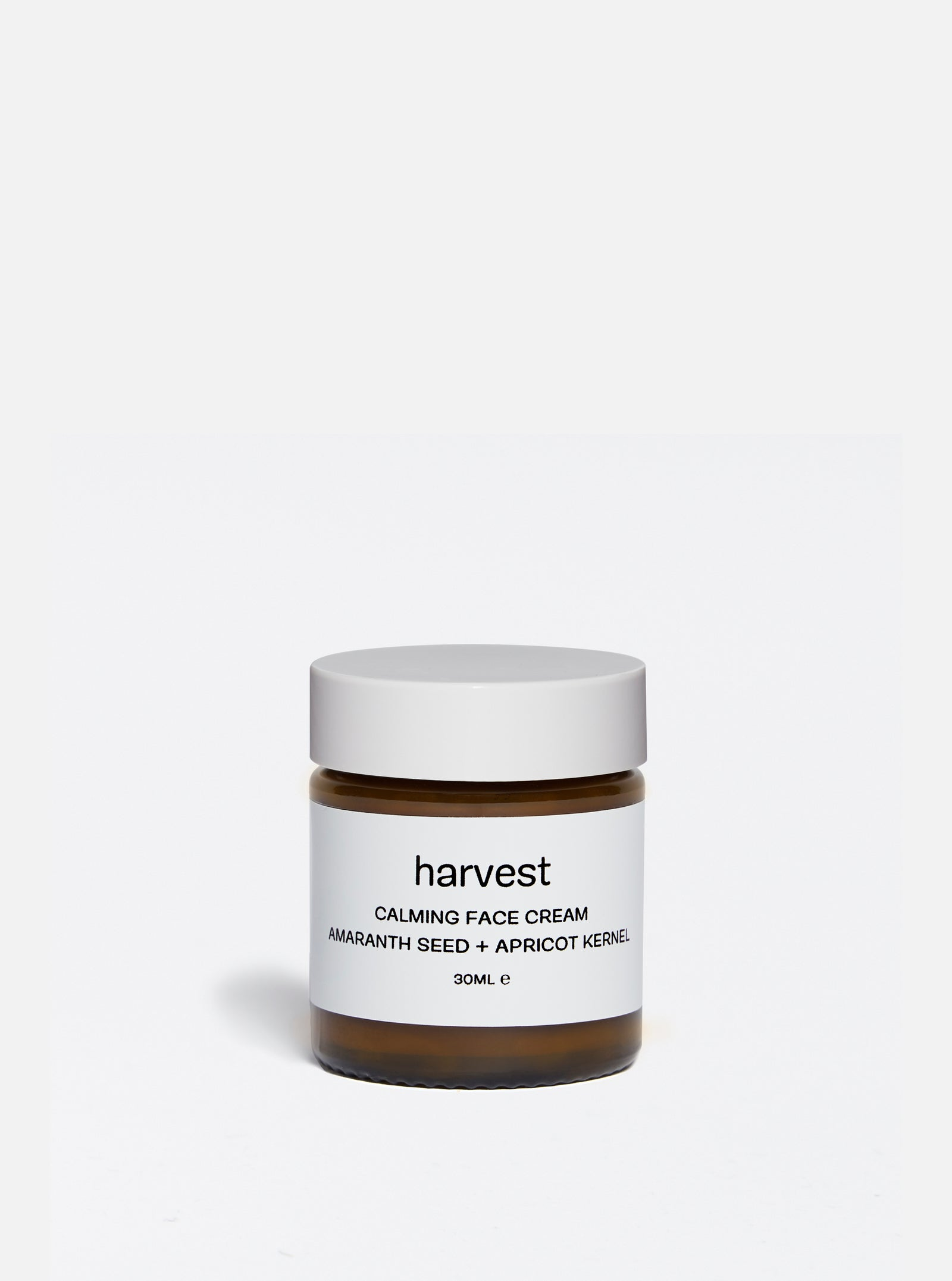harvest 'Amaranth Seed + Apricot Kernel' calming face cream - 30ml.