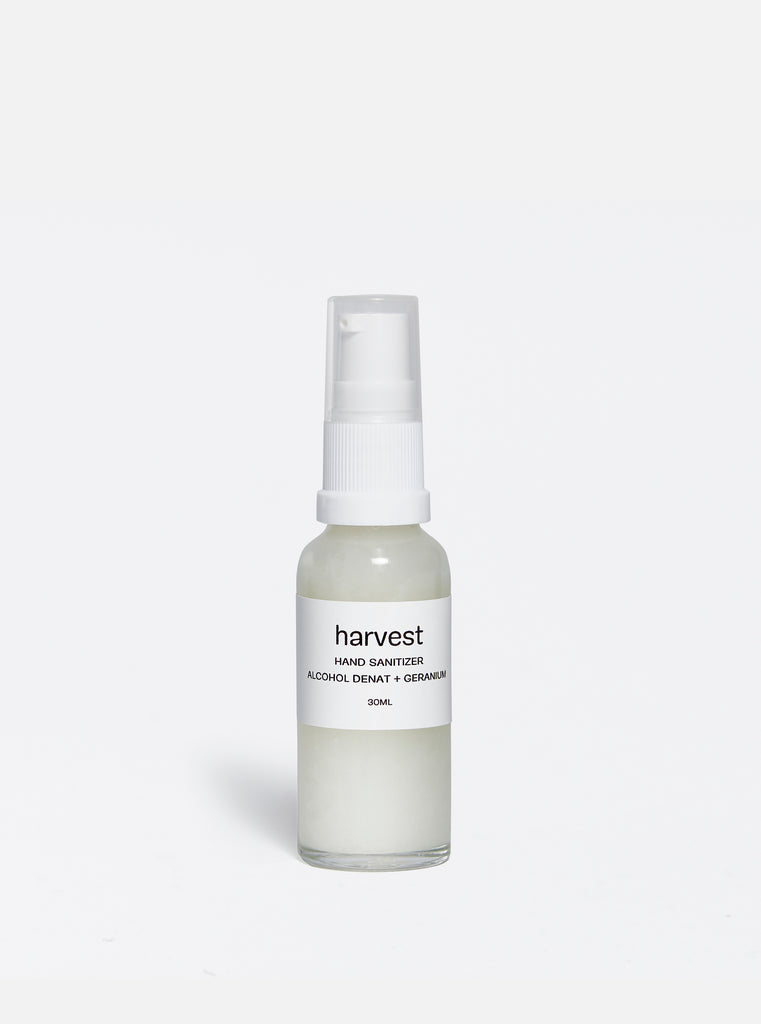 harvest 'alcohol denat + geranium' hand sanitizer - 30ml.