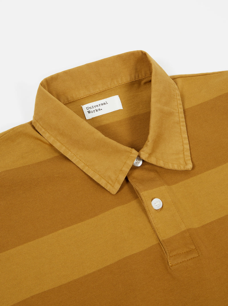 Universal Works Rugby Shirt in Mustard Stripe
