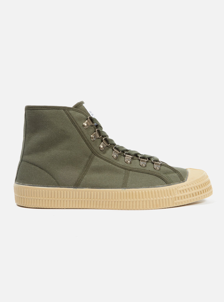 Universal Works x Novesta Star Dribble in Olive Fleece Lined Canvas