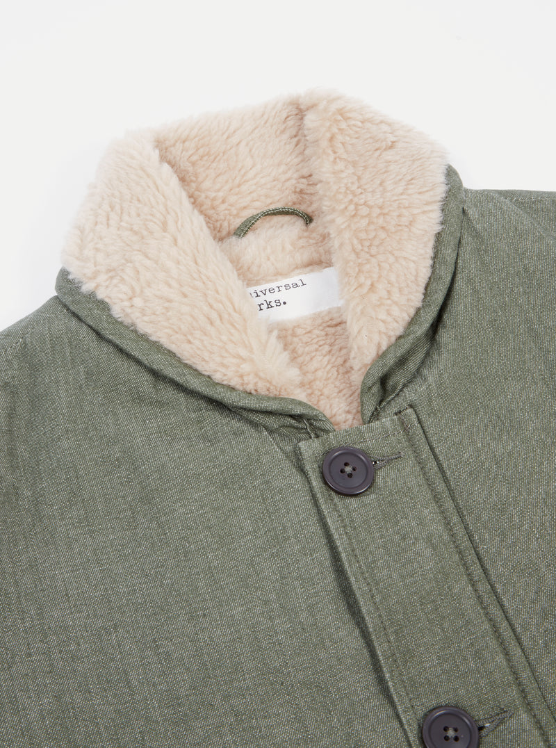 Universal Works N1 Jacket in Olive Yarn Dyed Twill