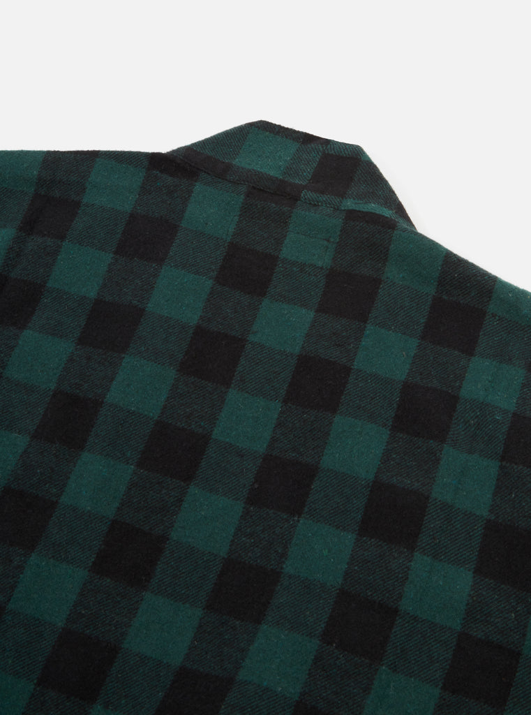 Universal Works Kyoto Work Jacket in Green Brushed Gingham