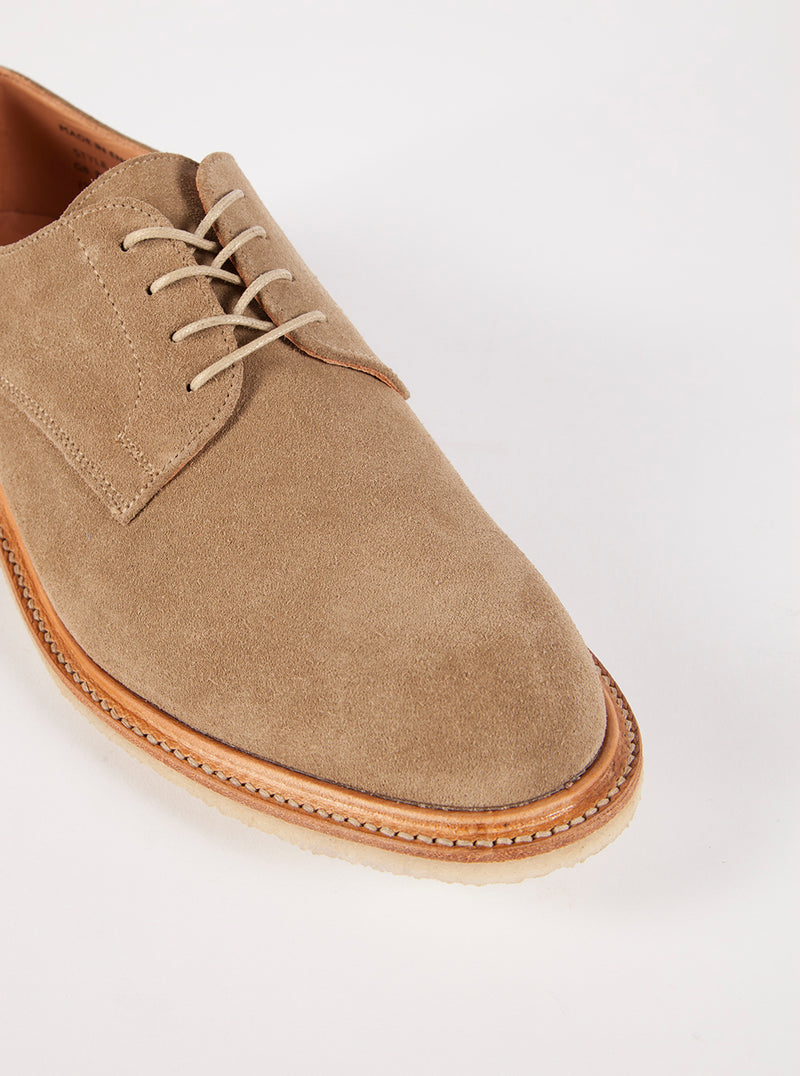 Universal Works x Sanders Plain Gibson in Stone Suede
