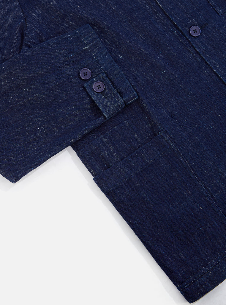 Universal Works Labour Jacket II in Indigo Handloom Denim