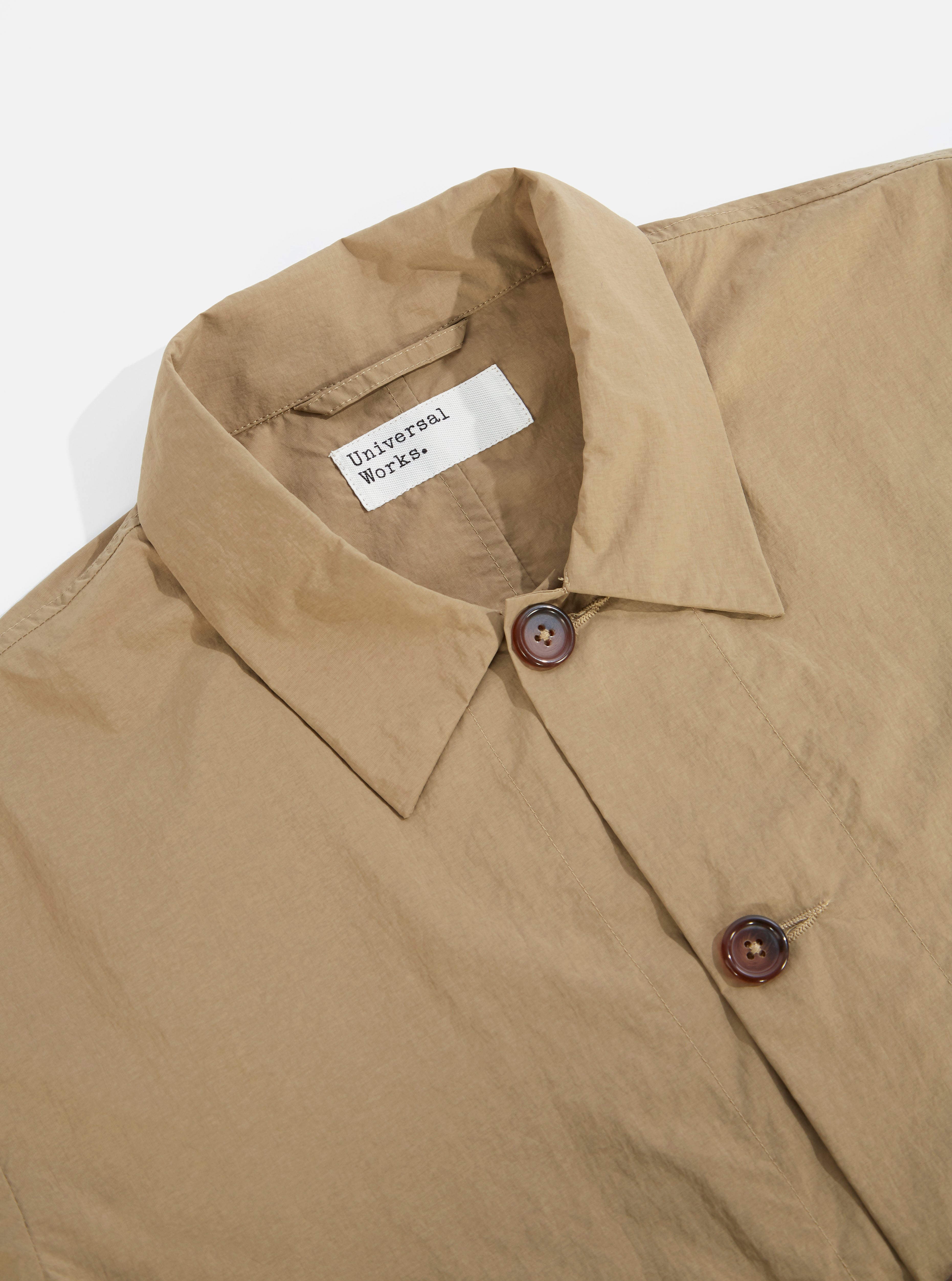 Universal Works Travail Shirt in Sand Recycled Nylon