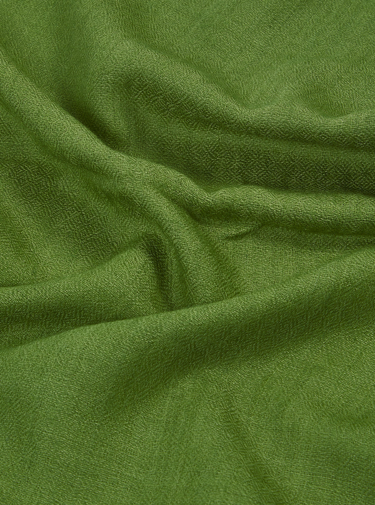 Universal Works Pashmina Scarf in Light Green Wool Pashmina