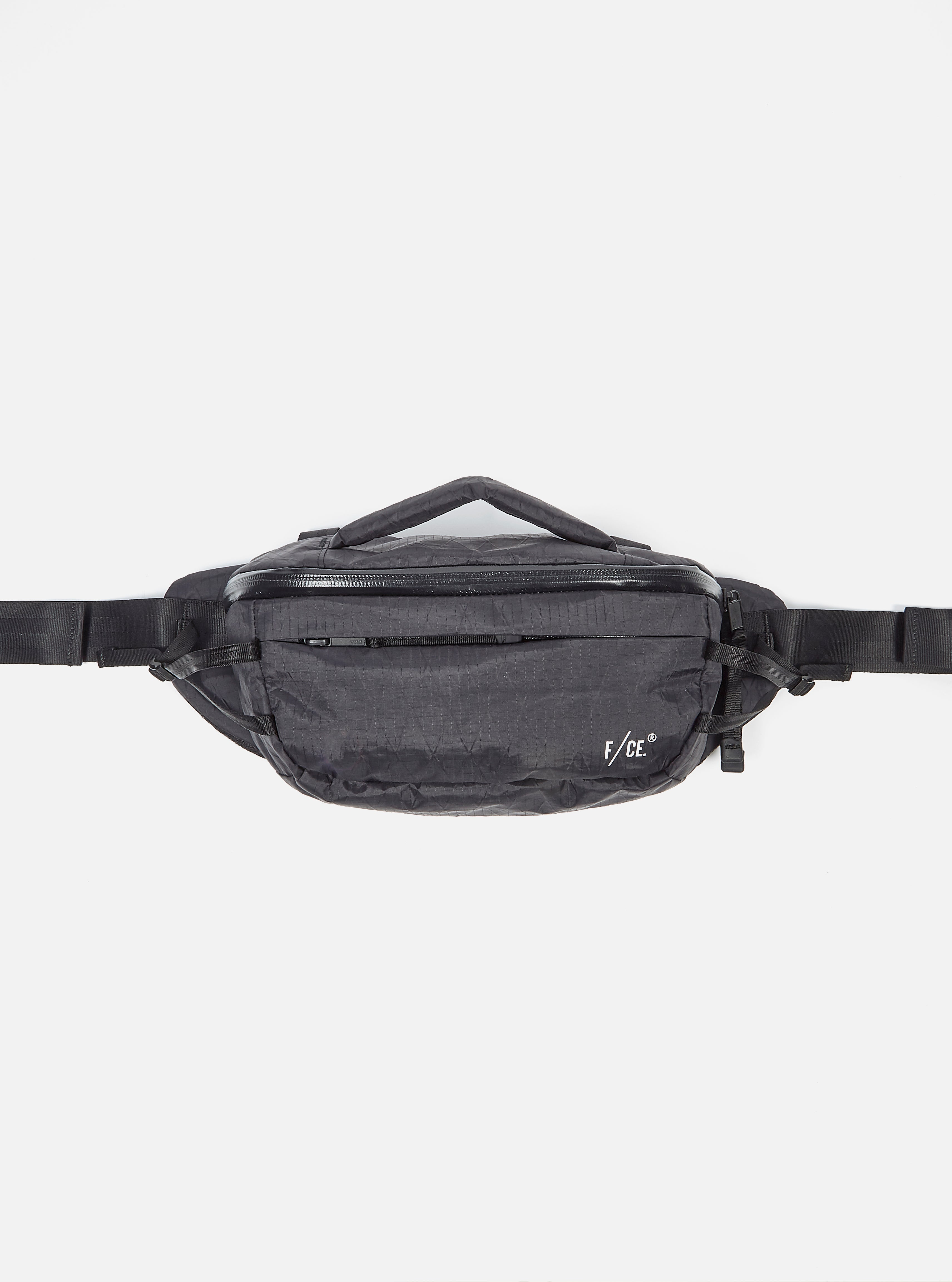 F/CE.® XPAC Utility Waist Bag in Black Ripstop Nylon