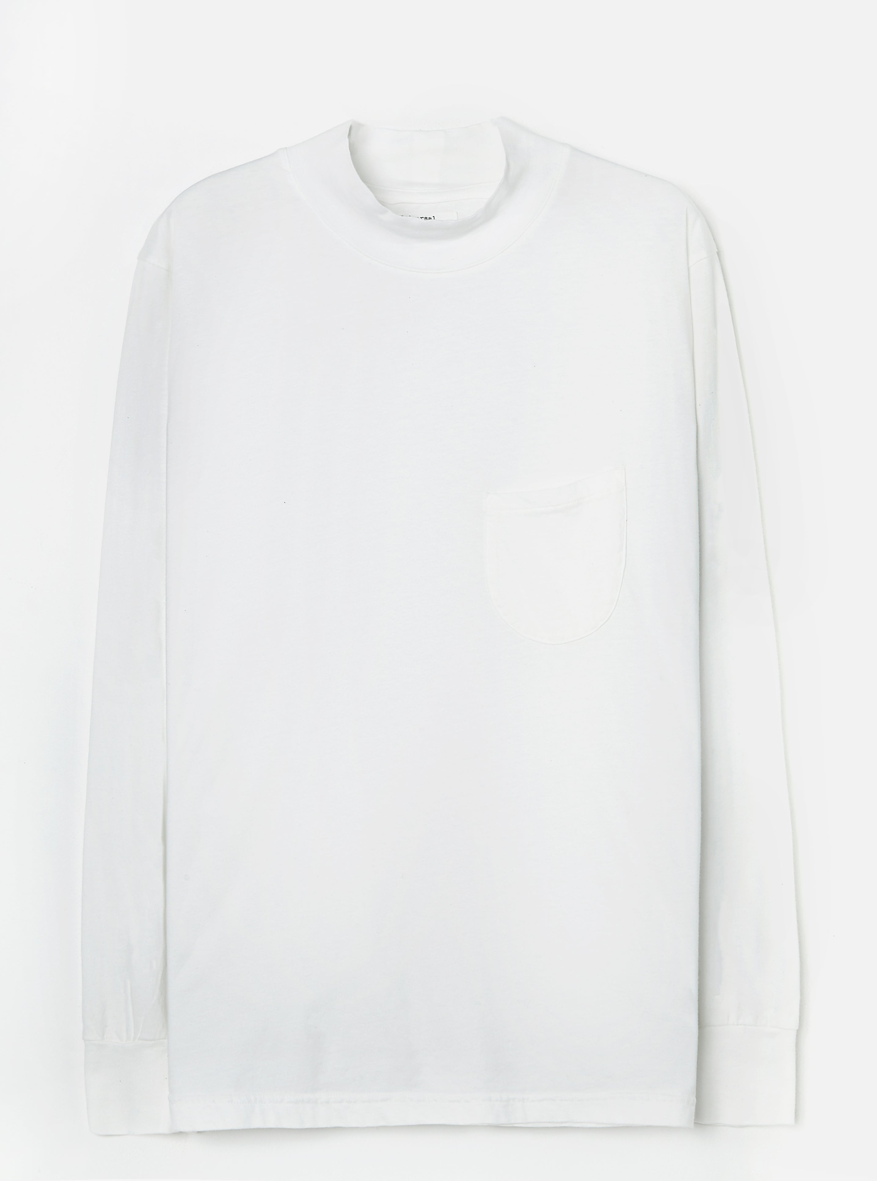 Universal Works Turtle Neck in Ecru Single Jersey