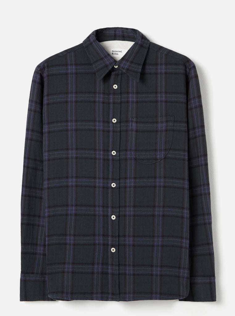 Universal Works Brook Shirt in Navy Rebel Check
