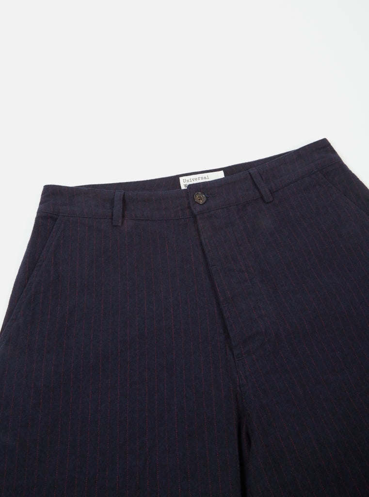 Universal Works Military Chino in Navy Cotton Pinstripe