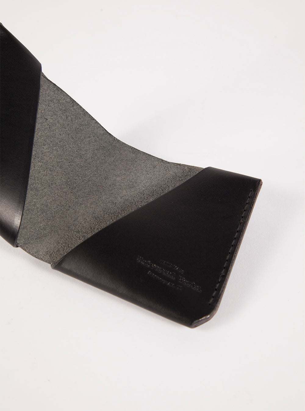 Universal Works Origami Wallet in Black Leather