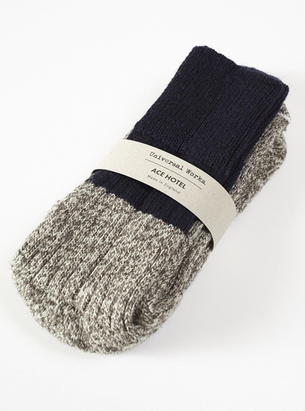 Universal Works X Ace Hotel Sock In Grey British Wool