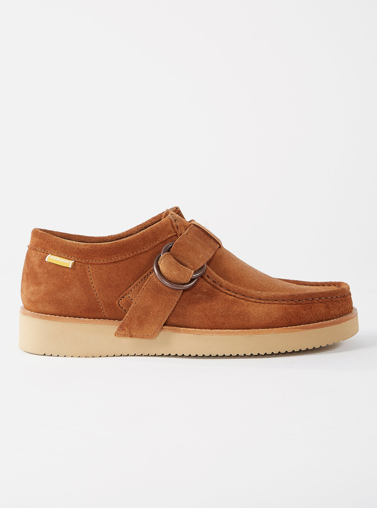 Universal Works x Sebago Buckle Koala in Tan Suede