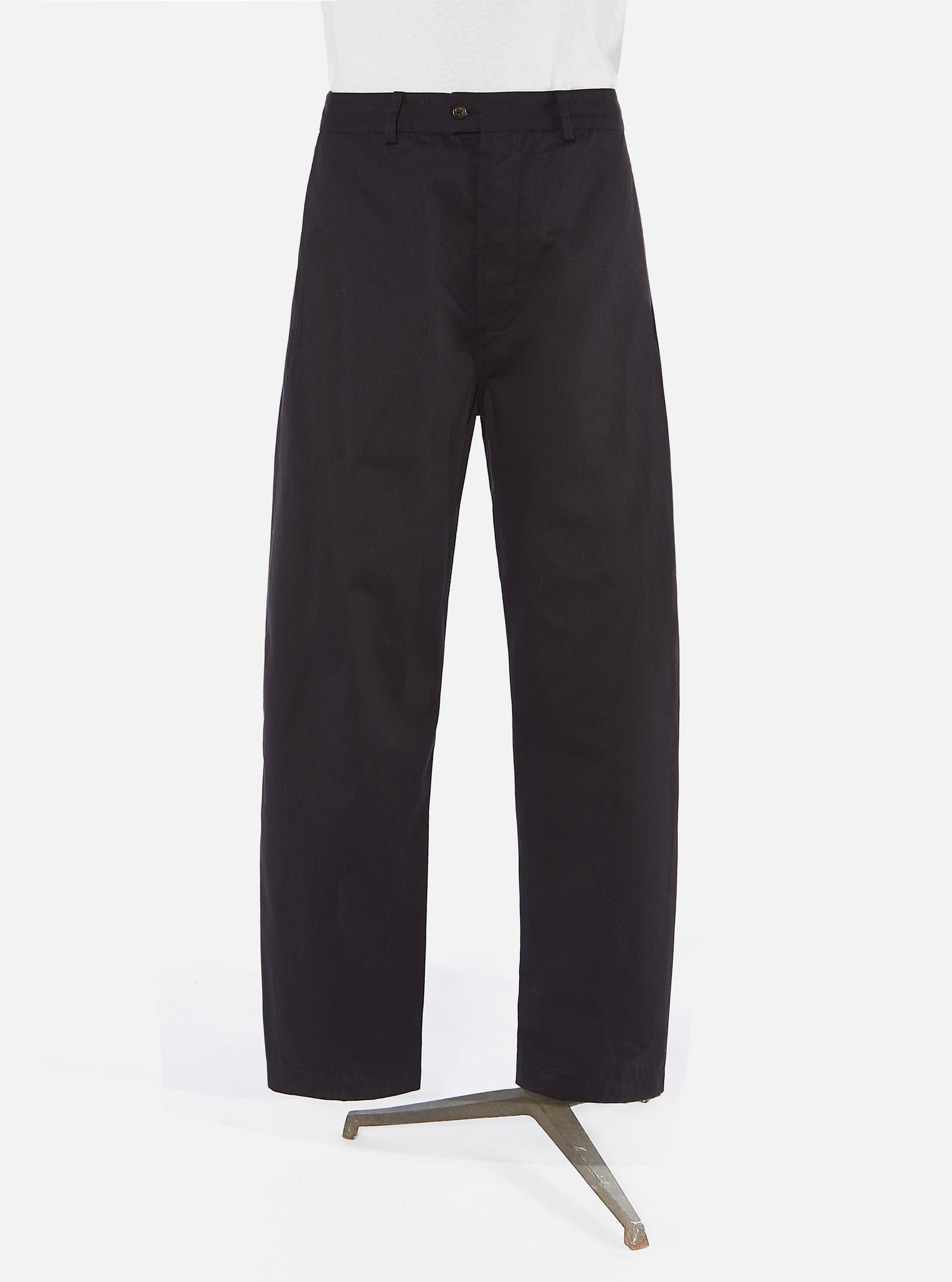 Universal Works Bakers Pant in Dark Navy Byron Twill