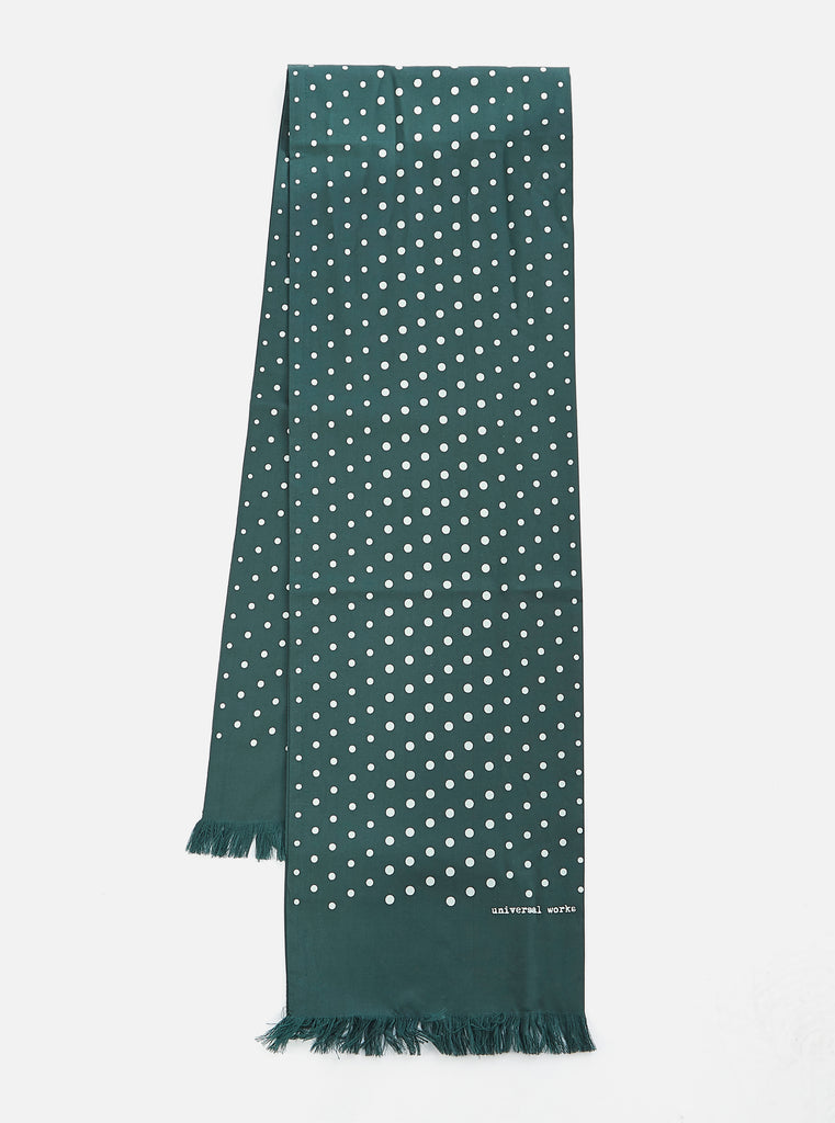 Universal Works Short Scarf in Forest Dot Print