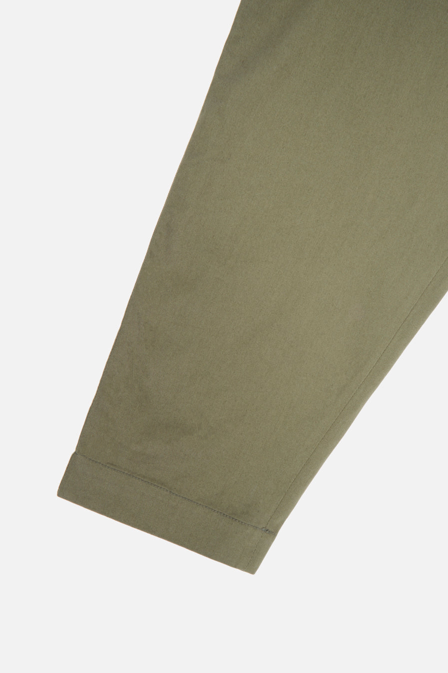 Universal Works Pleated Track Pant in Light Olive Twill