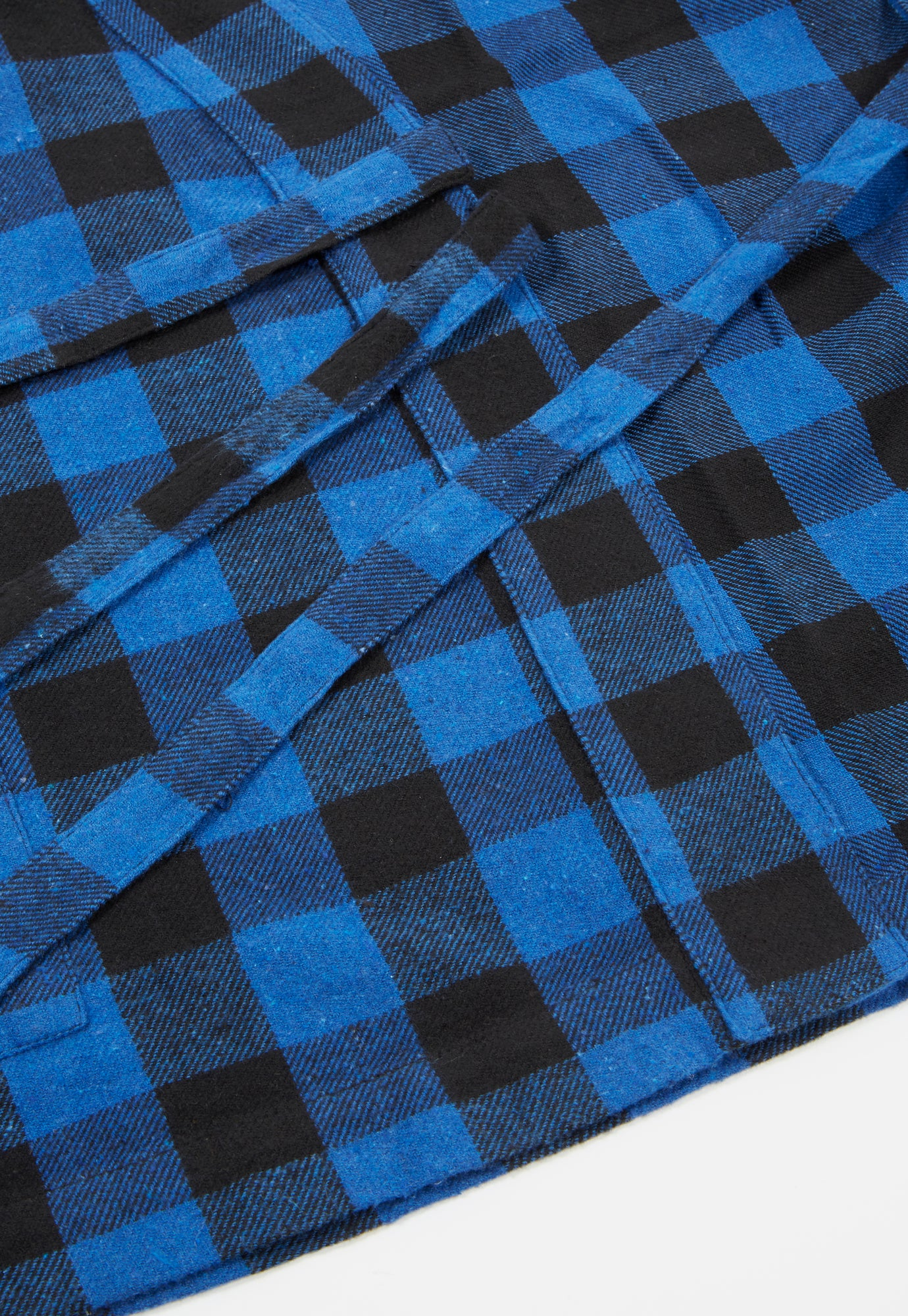 Universal Works Kyoto Work Jacket in Blue Brushed Gingham
