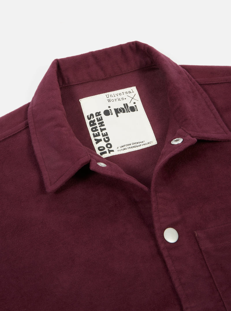 Universal Works x Oi Polloi Uniform Jacket in Burgundy Moleskin