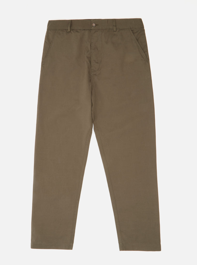 Universal Works Military Chino in Olive Gin Cotton
