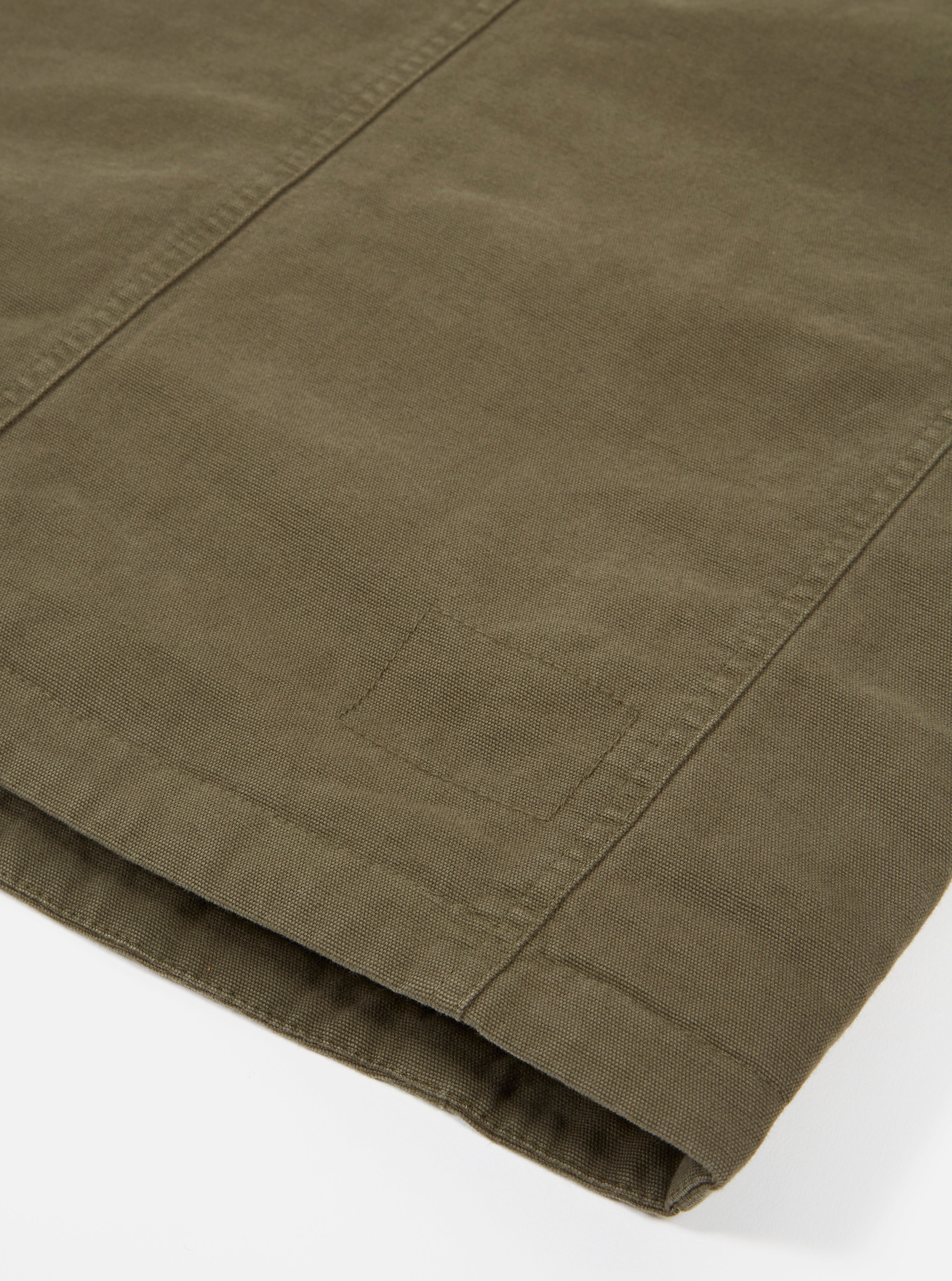 Universal Works Bakers Jacket in Olive Canvas