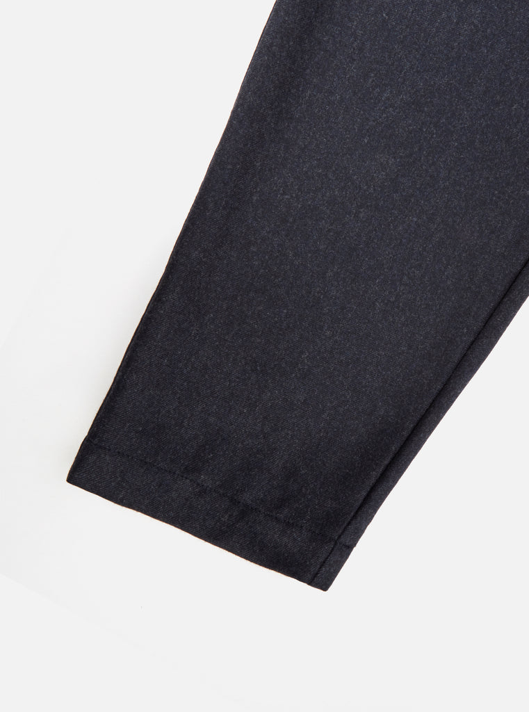 Universal Works Pleated Track Pant in Navy Flannel