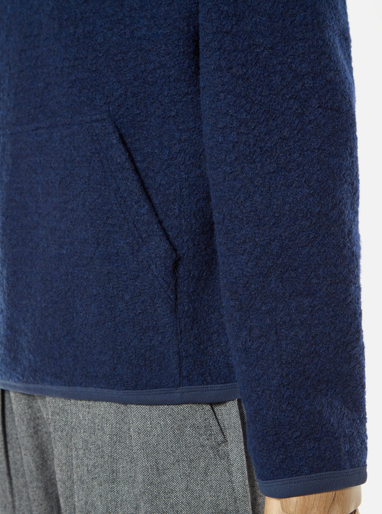Universal Works Beach Hoody in Navy Tibet Fleece