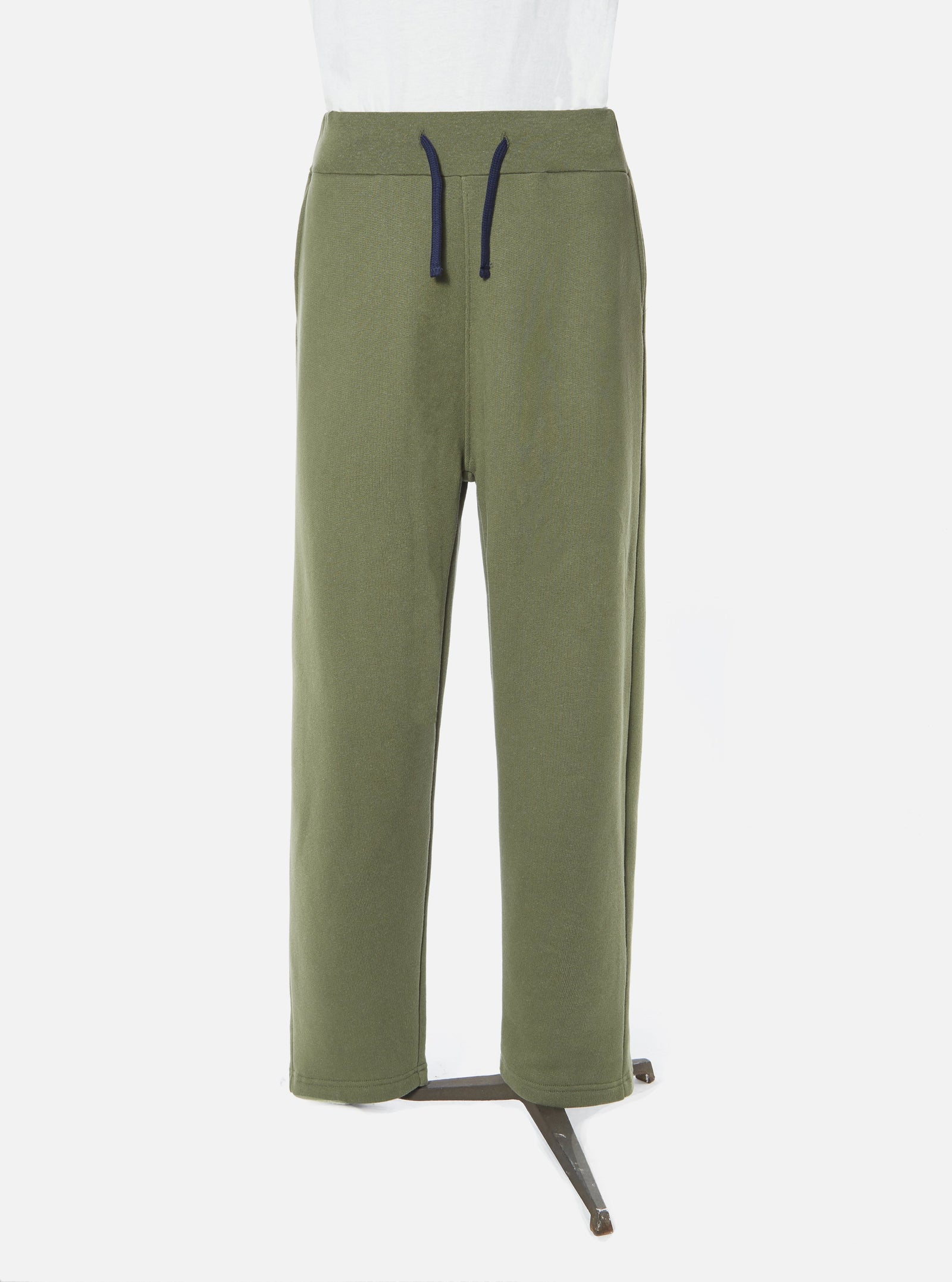 Universal Works Sweatpant in Olive Organic Mix Fleece