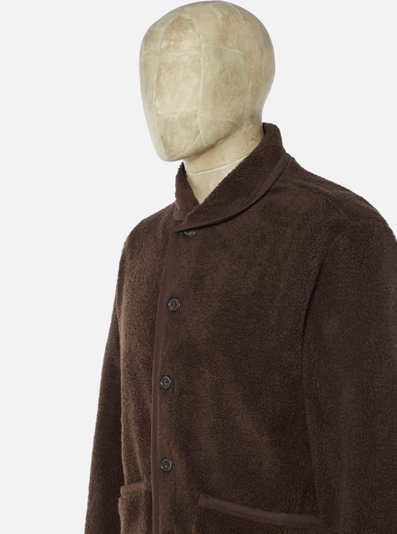 Universal Works Lancaster Jacket in Chocolate Mountain Fleece