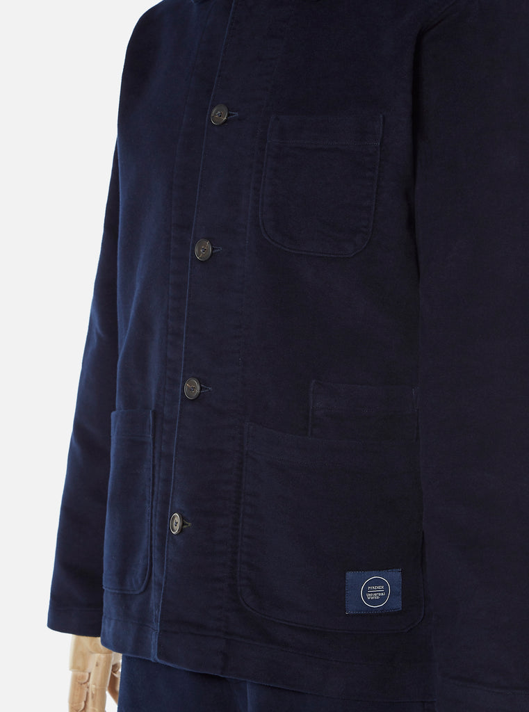 Pyrenex x Universal Works Light Jacket in Amiral Moleskin