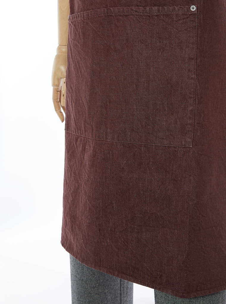 Universal Works Apron in Brown Selvedge Denim