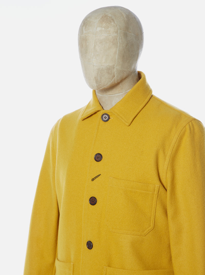 Universal Works Bakers Chore Jacket in Yellow Melton