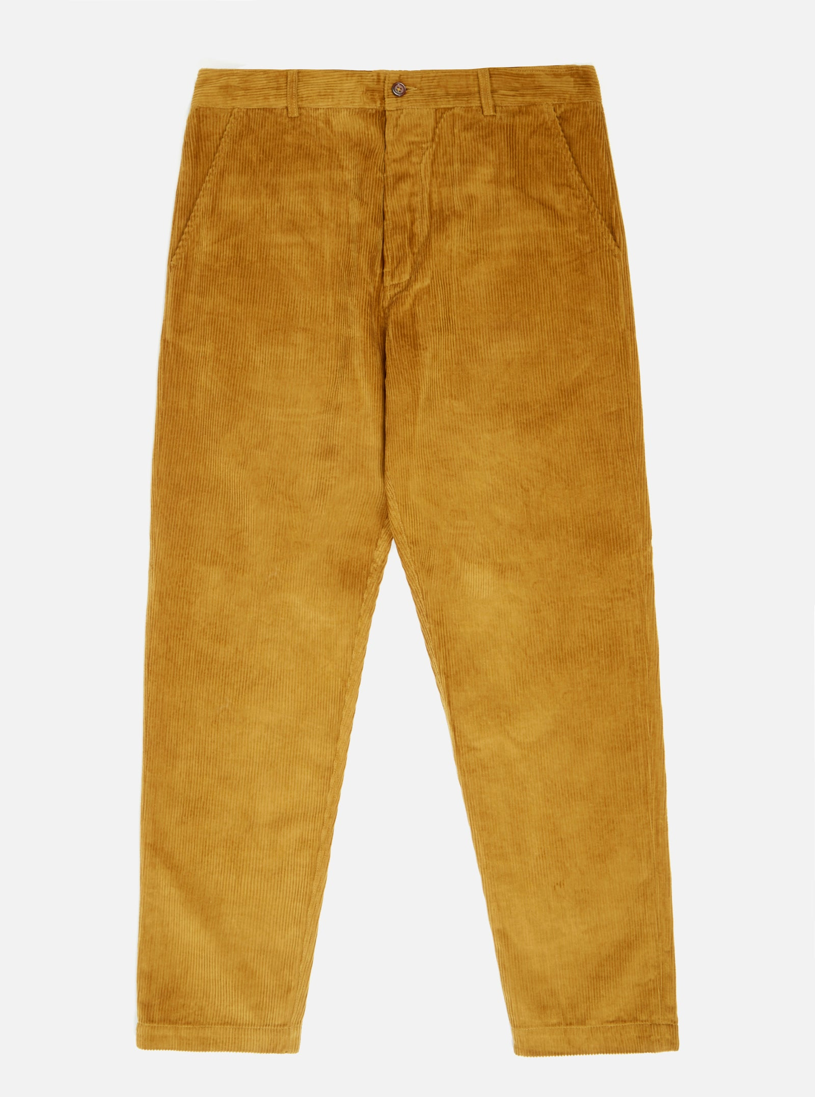 Universal Works Military Chino in Mustard 8 Wale Cord