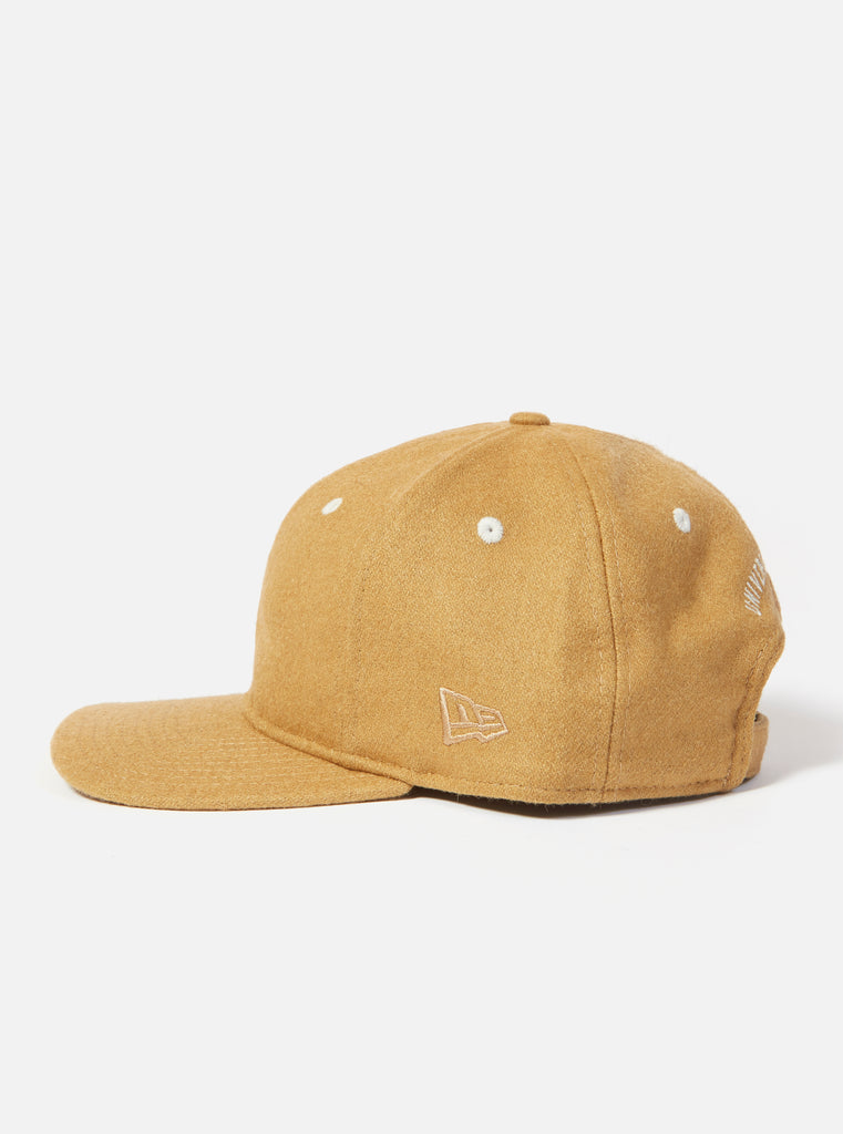 Universal Works New Era Cap in Cumin Melton Mix