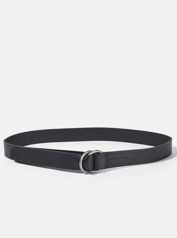 Universal Works Belt in Black Leather