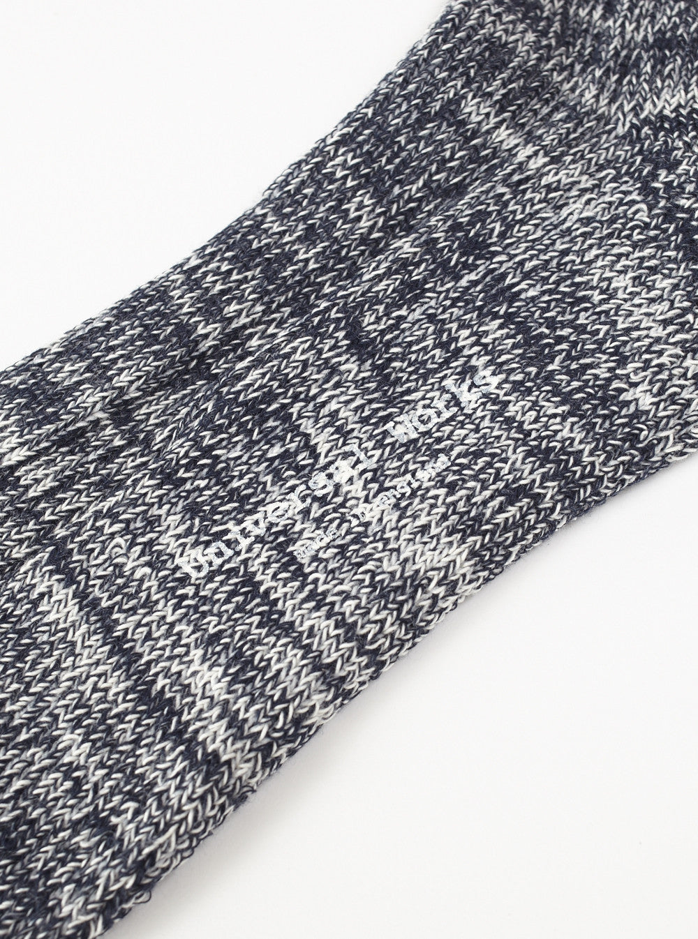Universal Works Marl Sock In Navy Cotton Mix