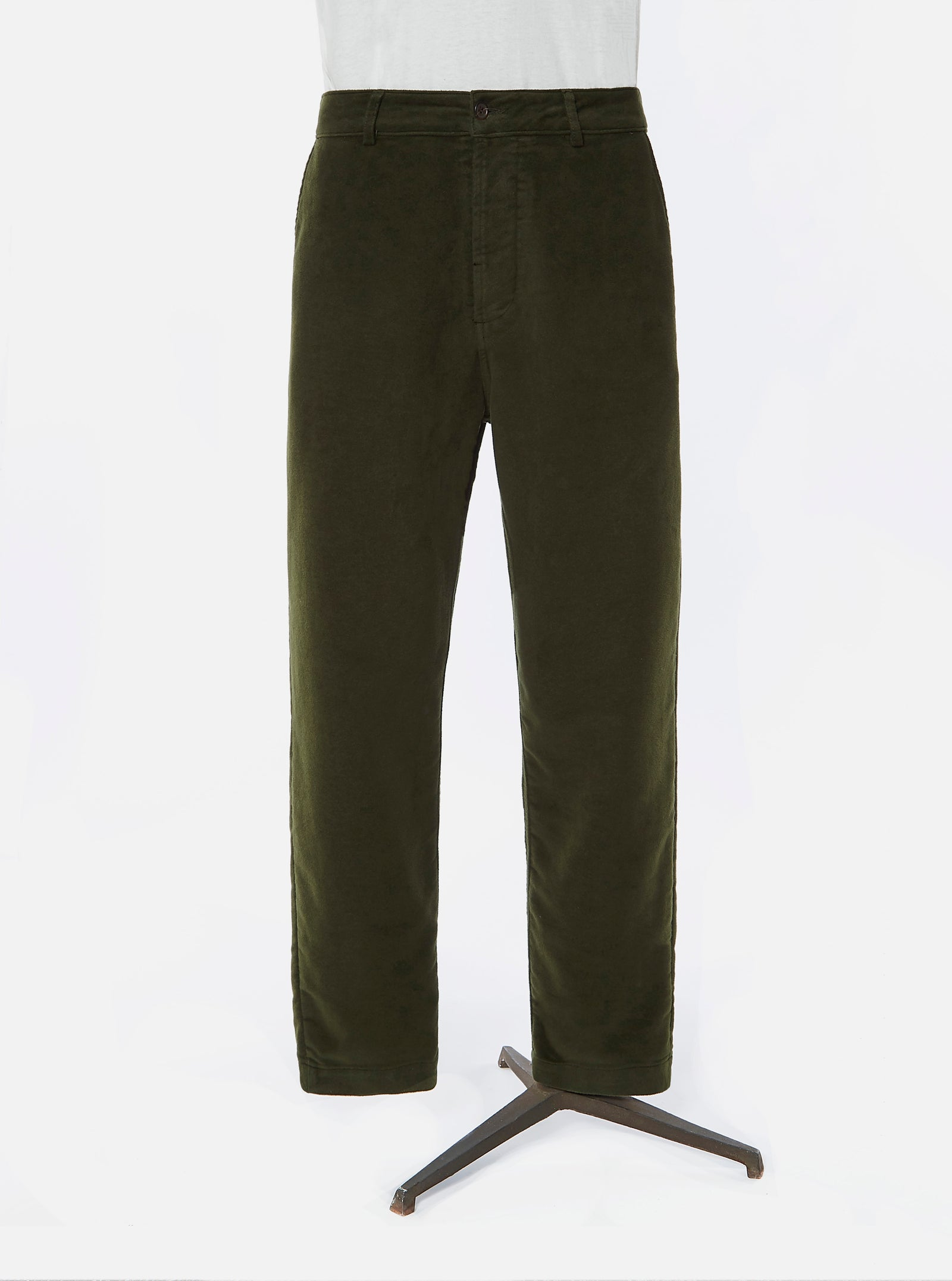 Pyrenex x Universal Works Military Chino in Sauge Moleskin