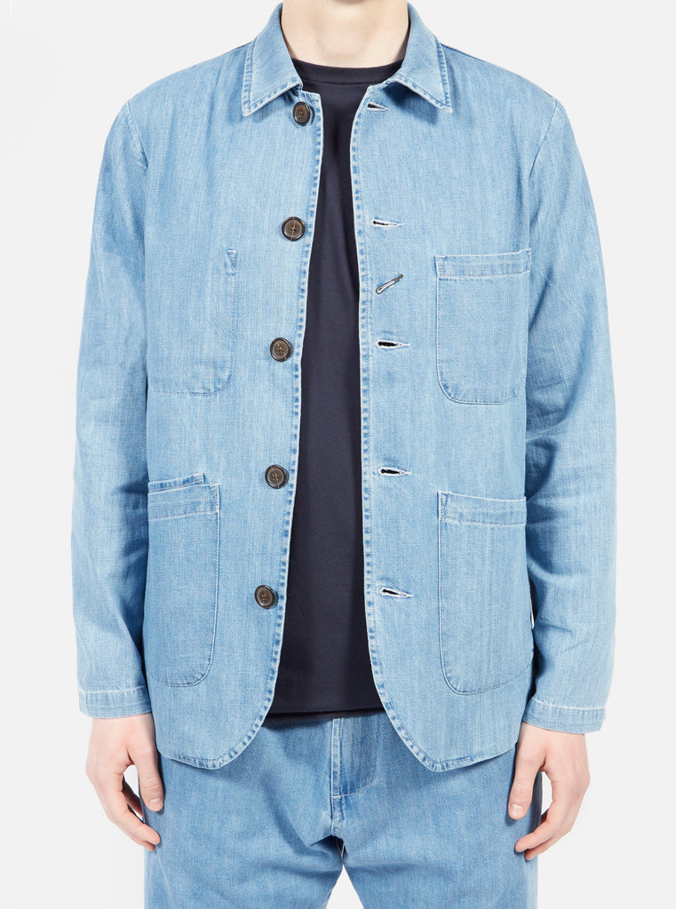 Bakers Jacket in Indigo Summer Denim