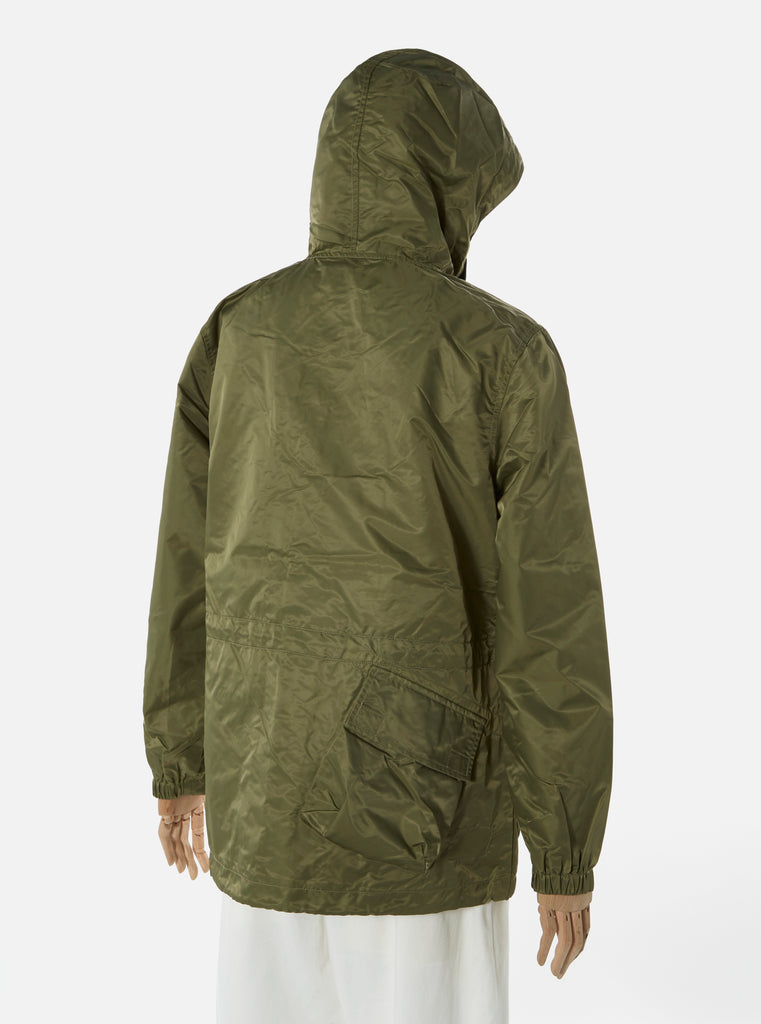 Universal Works NS Short Parka in Olive Flight Nylon